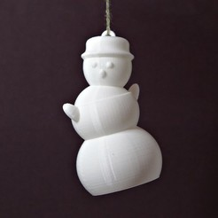 Free STL files Dancing Snowman Ornament, Tarkhubal