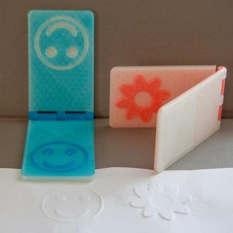 embossing_stamp_display_large.jpg Download free STL file Customizable Embossing Stamp • 3D printing model, Tarkhubal