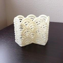 Download free 3D printing models Byobu style Seigaiha Pen Stand, Tarkhubal