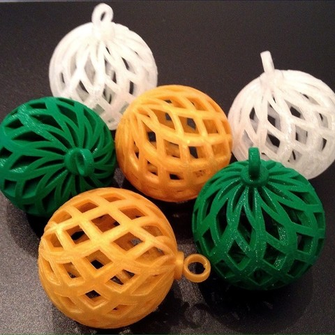 Free 3D printer files 2014 Ornaments Collection One, Prunaen3d