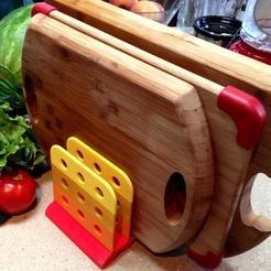 Impresiones 3D gratis Estante de secado para tablas de corte / Lima de escritorio, Prunaen3d