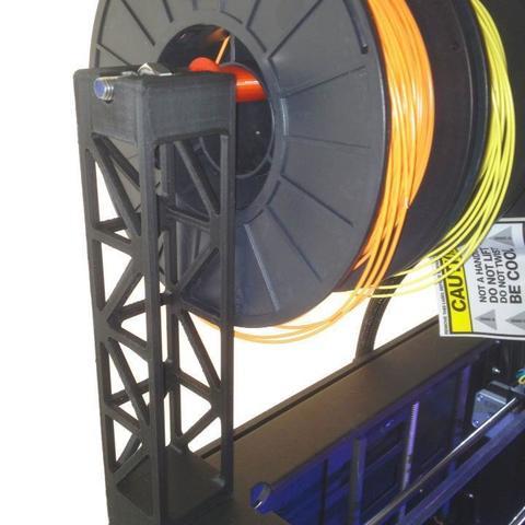 Télécharger modèle 3D gratuit Réplicateur 2 Support de bobine de filament de montage supérieur/distributeur, Prunaen3d