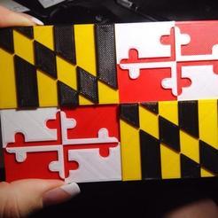 Download free STL Maryland State Flag, Prunaen3d
