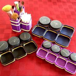 Free 3D printer designs Mineral Makeup Organizers, Prunaen3d