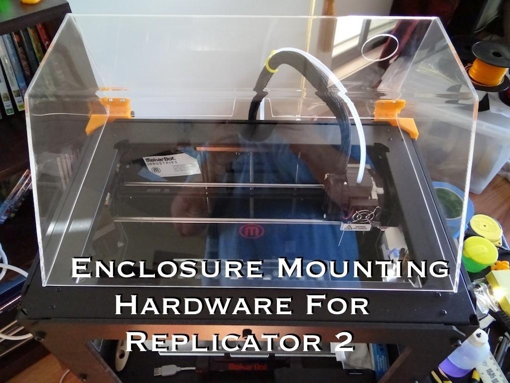 enclosure_mounting_hardware_1_display_large.jpg Télécharger fichier STL gratuit Matériel de montage de boîtier pour réplicateur 2 • Objet pour impression 3D, Gaenarra