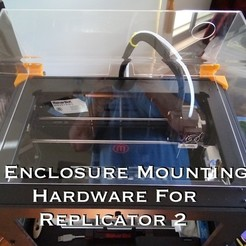 Download free STL files Enclosure Mounting Hardware for Replicator 2, Gaenarra
