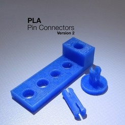 Download free 3D model PLA Pin Connectors v2, Gaenarra