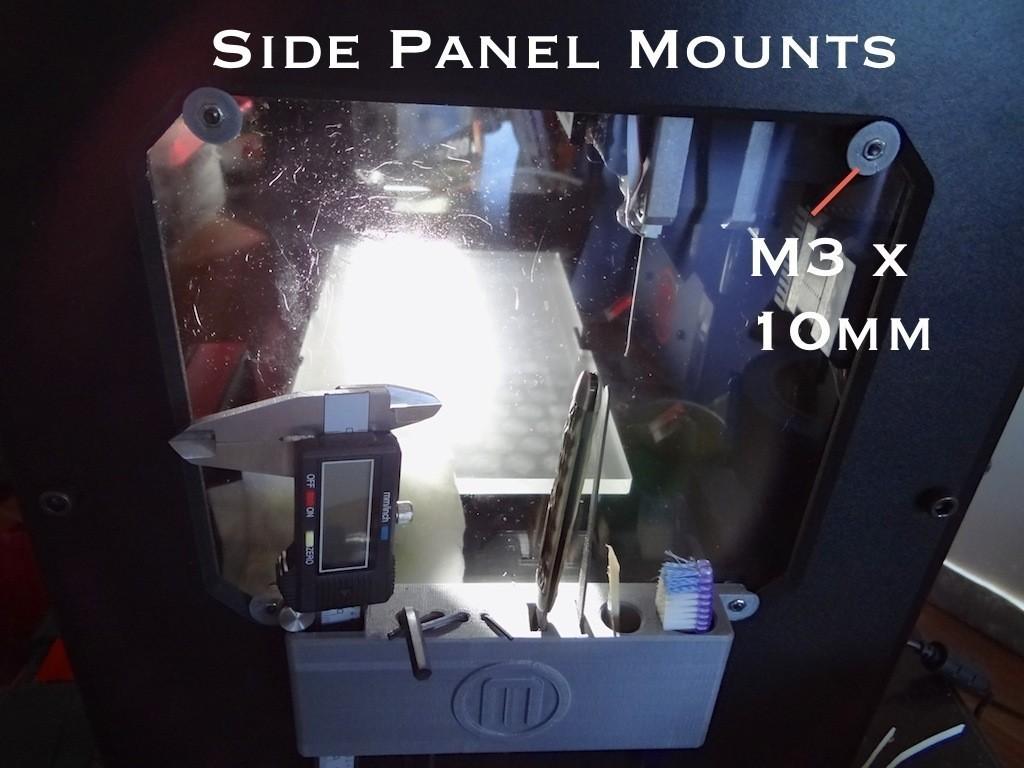 enclosure_mounting_hardware_3_display_large.jpg Télécharger fichier STL gratuit Matériel de montage de boîtier pour réplicateur 2 • Objet pour impression 3D, Gaenarra