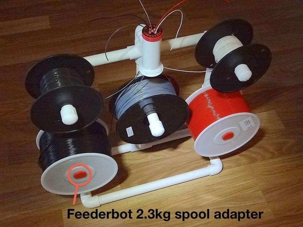 DSC00452_display_large.jpg Download free STL file Feederbot spool adapter • 3D print template, Gaenarra
