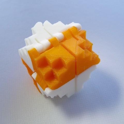 Télécharger objet 3D gratuit Cube pliable 8 bits pour PLA, Gaenarra