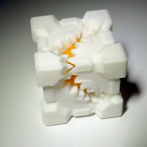 Download free 3D printer model PLA Companion Cube Gears, Gaenarra