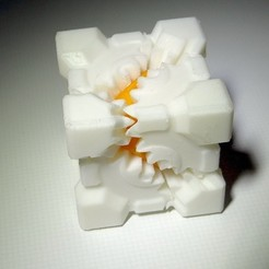 Download free 3D printer model PLA Companion Cube Gears, Gaenarra