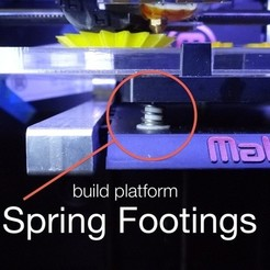 Free STL files Customizable Spring Footings for Replicator 2/2X Build Plate, Gaenarra