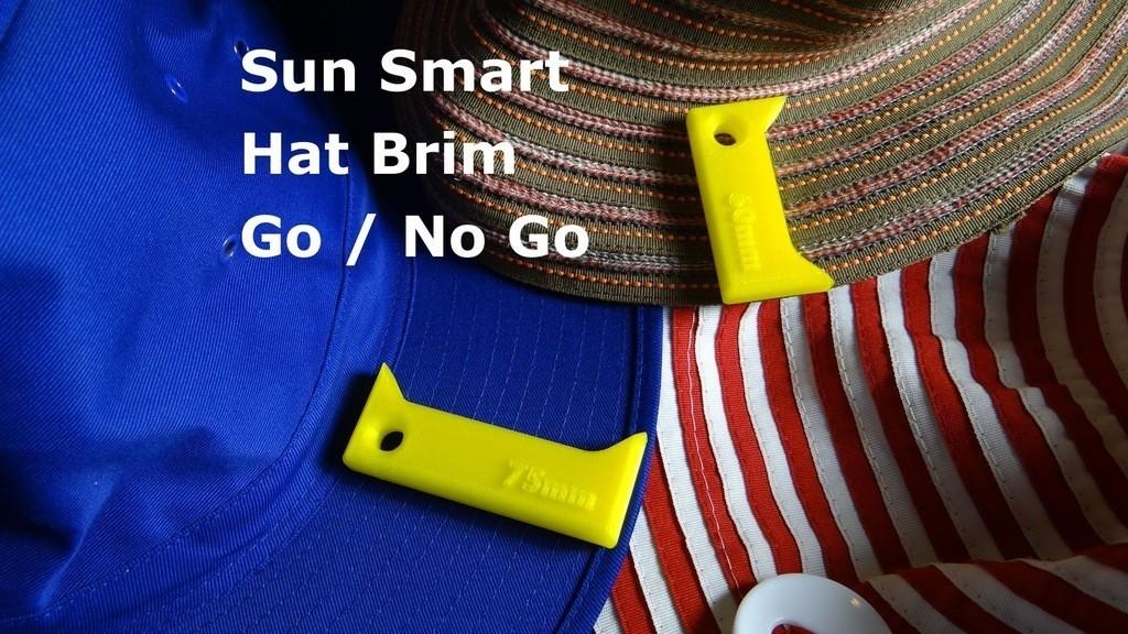 Hat_brim_go_-_no_go_display_large.jpg Télécharger fichier STL gratuit Bord de chapeau d'école - Go / No Go • Design imprimable en 3D, Gaenarra