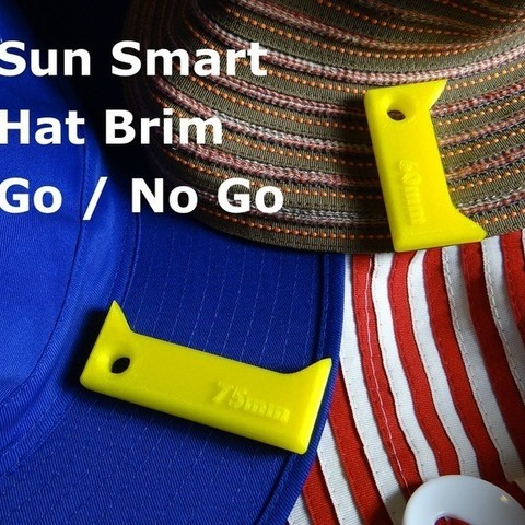 Free 3D printer files School Hat Brim - Go / No Go, Gaenarra