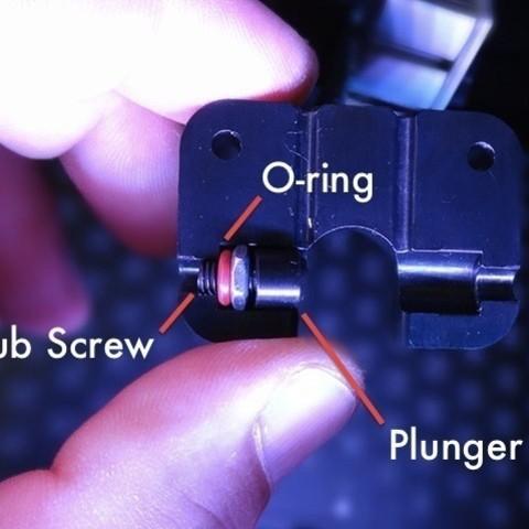 delrin-plunger-grub-screw_display_large.jpg Télécharger fichier STL gratuit Mise à niveau de l'extrudeuse Replicator 2 • Plan imprimable en 3D, Gaenarra
