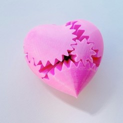 Download free 3D printing designs PLA Heart Gears v2, Gaenarra