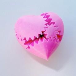 Télécharger modèle 3D gratuit PLA Heart Gears v2, Gaenarra