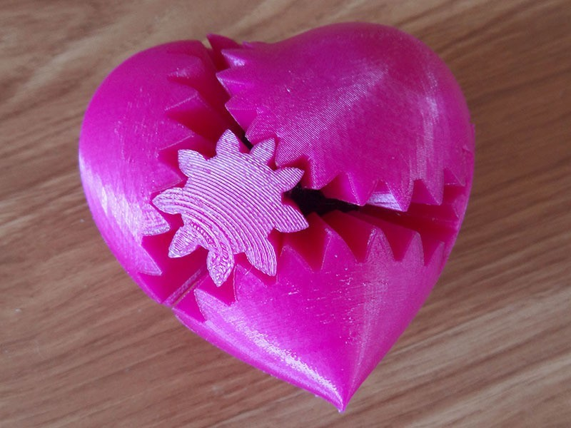 PLA-gear-heart_display_large.jpg Download free STL file PLA Heart Gears for Replicator 2 • 3D printer model, Gaenarra