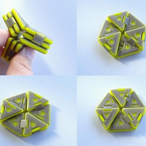 Free 3D printer model Hexaflexagon, Gaenarra