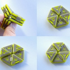 Download free 3D printing templates Hexaflexagon, Gaenarra