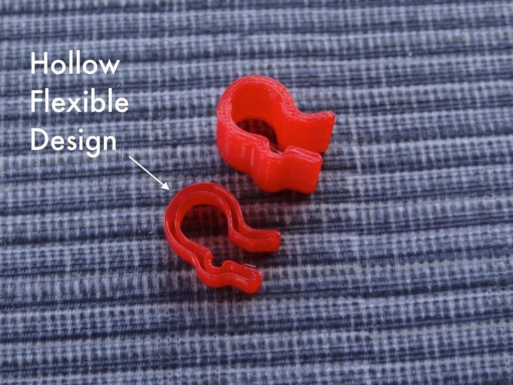 Flexible_PLA_spool_clip_3_display_large.jpg Télécharger fichier STL gratuit Pince flexible en PLA (1.75mm) • Modèle pour impression 3D, Gaenarra