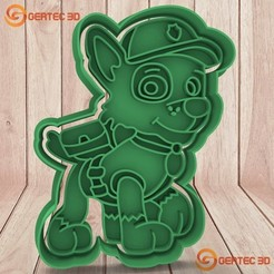 Download 3D printing templates ROCKY PAW PATROL DOUGH CUTTER - COOKIE CUTTER, GERTEC