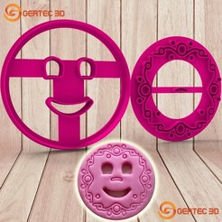Download 3D printing templates COOKIE CUTTER SMILES, GERTEC