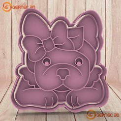 1.245.jpg Download STL file BULL DOG SIMONE DOUGH CUTTER - COOKIE CUTTER • 3D printable design, GERTEC