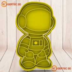 1.167.jpg Download STL file ASTRONAUTA Dough Cutter - Cookie Cutter • 3D printing model, GERTEC