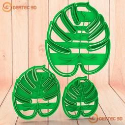 Télécharger objet 3D Ensemble de masse de coupe X3 unités. Coupe de lame Monstera + timbre, GERTEC