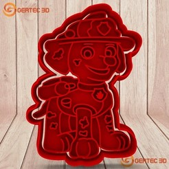1.199.jpg Download STL file MARSHALL PAW PATROL DOUGH CUTTER - COOKIE CUTTER • 3D printing model, GERTEC