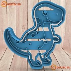 Descargar modelo 3D CORTANTE DE MASA DINOSAURIO - COOKIE CUTTER - D3, GERTEC