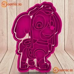 Download 3D printer files SKYE PAW PATROL DOUGH CUTTER - COOKIE CUTTER, GERTEC