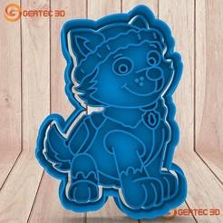Download 3D print files EVEREST PAW PATROL DOUGH CUTTER - COOKIE CUTTER, GERTEC