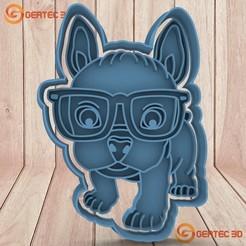 Download 3D printer templates BULL DOG DOUGH CUTTER - COOKIE CUTTER, GERTEC