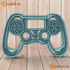 Download 3D printer designs PS4 JOYSTICK DOUGH CUTTER - COOKIE CUTTER, GERTEC