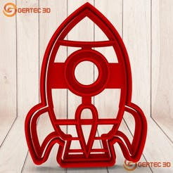 Download 3D printer designs Mass cutter space rocket ship - COOKIE CUTTER, GERTEC