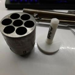 20201215_125537.jpg Download free STL file Cylinder holder colt 1860 • 3D printer model, bbakkers
