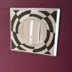 Impresiones 3D Interruptor de mandril de placa de cubierta 1, Daoulagad