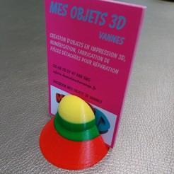Modelos 3D gratis Portatarjetas de visita piramidal, Daoulagad