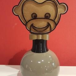 20201105_171936.jpg Télécharger fichier STL Luminaire tête singe • Design imprimable en 3D, Daoulagad