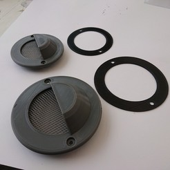 DSC_0027.JPG Download free STL file Round Vent 70mm • 3D printable object, stevie39
