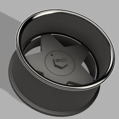 STL file Rc drift wheel Deep dish V2, Shakydrifters
