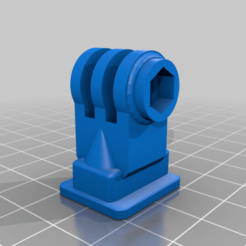 COLD_SHOE_GOPRO_MOUNT_I.png Download free STL file GoPro Adapter for Cold Shoe and Tripod (für Kamerastativ und Blitzschuh) • 3D print model, TASPP