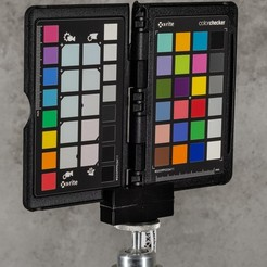 "Download free STL Color Checker Passport 1/4"" mount Stativadapter, TASPP"