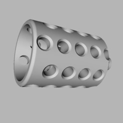 Download free 3D printing designs Fire Damper / Muzzle Brake for Grimmindustries Colonial Blaster, TASPP