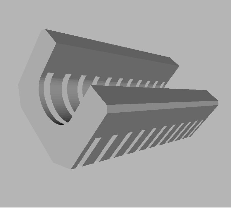 Gun-Frontend.JPG Download free STL file Gun Barrel Grip • Model to 3D print, TASPP