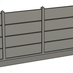 Descargar archivos 3D gratis la valla de placas de hormigón, MaxLeon59