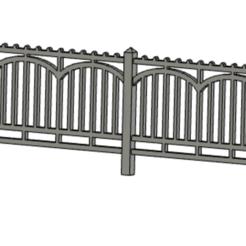 Capture d'écran 2020-06-07 à 20.48.45.png Download STL file concrete fence • 3D printer object, VNS-train